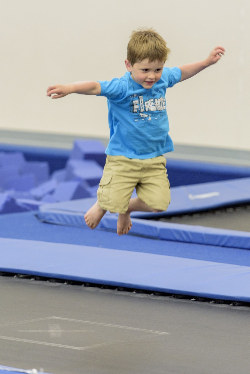 Little boy jumping